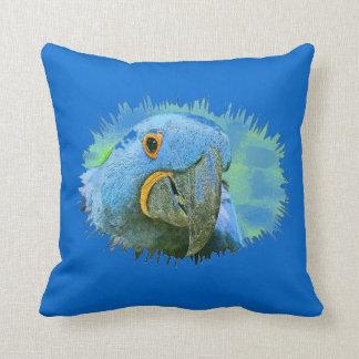 Hyacinth Macaw Parrot Bird Pillow