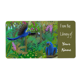 Hyacinth Macaws Bookplate Shipping Label