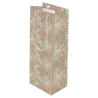 Hyacinth Pattern William Morris Sample Book Wine Gift Bag