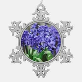 Hyacinth Pewter Snowflake Ornament