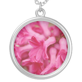 Hyacinth Pink Silver Plated Necklace