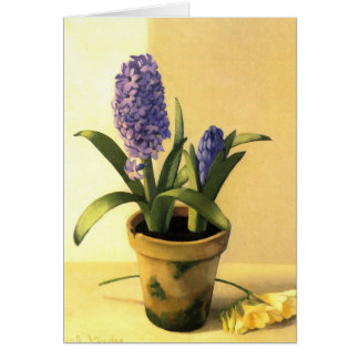 Hyacinth Pot Card