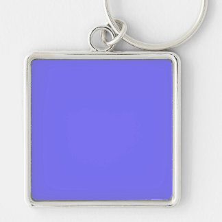 Hyacinth Purple Blue Color Trend Background Silver-Colored Square Keychain
