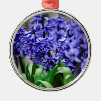 Hyacinth Silver-Colored Round Ornament