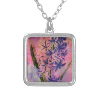 HYACINTH SILVER PLATED NECKLACE