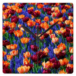 Hyacinth Tulip Garden Cotillion Clock
