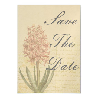 "Hyacinth Vintage Scroll Save The Date 5"" X 7"" Invitation Card"