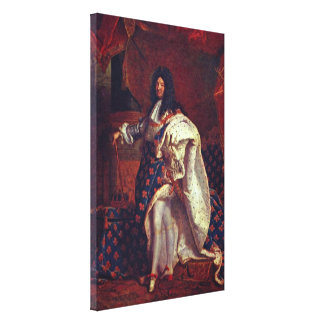 Hyacinthe Rigaud - Portrait of Louis XIV Canvas Print