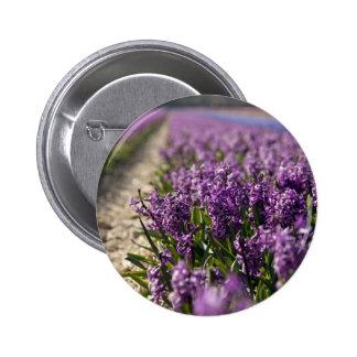 Hyacinths 2 Inch Round Button