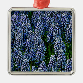 Hyacinths As Art Silver-Colored Square Ornament