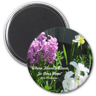Hyacinths & Daffodil Magnet
