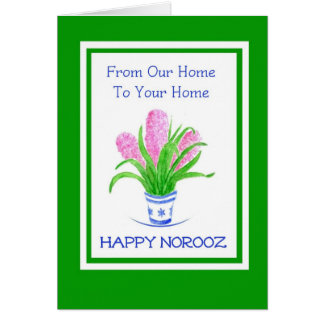 Hyacinths Persian New Year Our Home to Yours Card