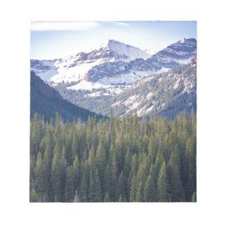 Hyalite Peaks Bozeman, Montana Notepad