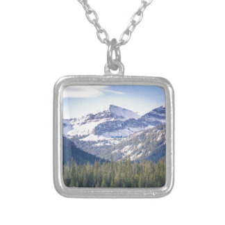 Hyalite Peaks Bozeman, Montana Silver Plated Necklace