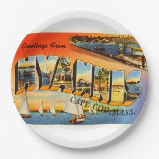 Hyannis Cape Cod Massachusetts MA Travel Souvenir 9 Inch Paper Plate