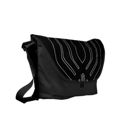 Hybrid Black (Black) Messenger Bag