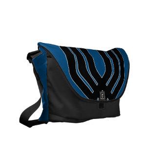Hybrid Black (Blue) Messenger Bag