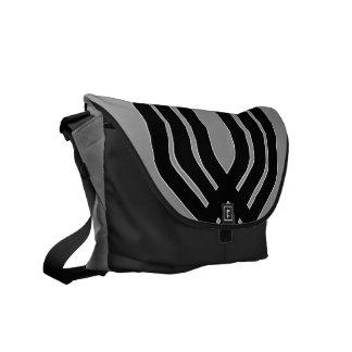 Hybrid Black (Grey) Messenger Bag