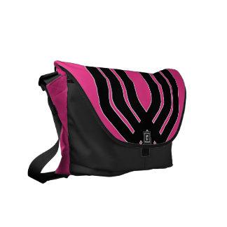 Hybrid Black Magenta Messenger Bag