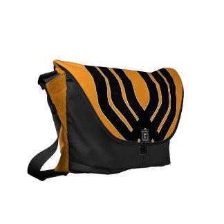 Hybrid Black Orange Messenger Bag