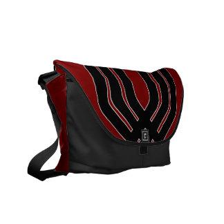 Hybrid Black (Red) Messenger Bag