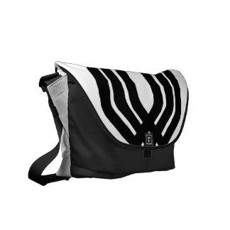 Hybrid Black White Messenger Bag