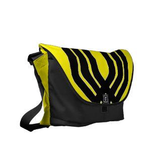 Hybrid Black (Yellow) Messenger Bag