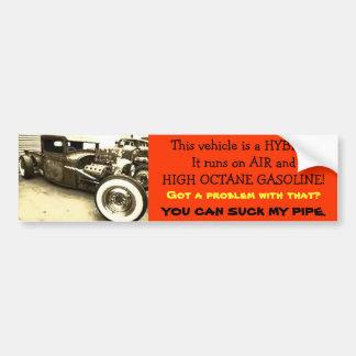 Hybrid hot rod bumper sticker