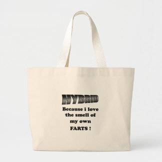 hybrid - i love the smell of my own farts jumbo tote bag