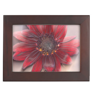 Hybrid sunflower blowing in the wind memory box