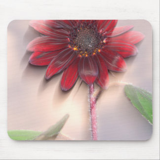 Hybrid sunflower blowing in the wind mouse pad