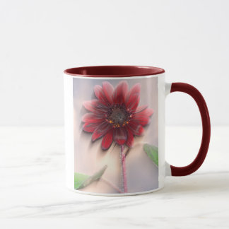 Hybrid sunflower blowing in the wind mug