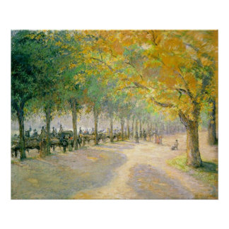 Hyde Park Camille Pissarro 1890 tree autumn fall Poster