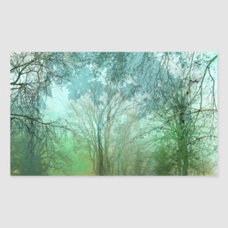 HYDE PARK FOG in ELEGANT EMERALD GREENS Sticker