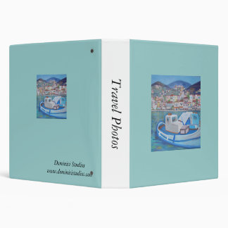 Hydra Island,Travel Photos Vinyl Binder
