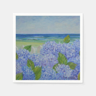 Hydraneas By The Sea Napkin Disposable Napkins