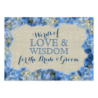 Hydrangea and Burlap Advice Cards Large Business Cards (Pack Of 100)