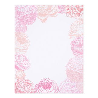 Hydrangea and Roses Wedding Stationery Custom Letterhead