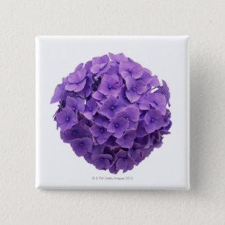 Hydrangea Ball Close-up 2 Inch Square Button