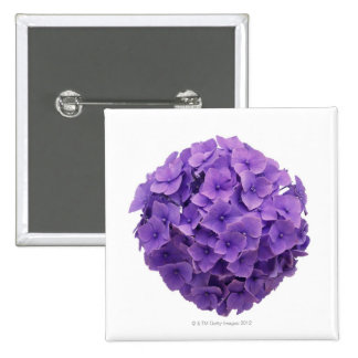Hydrangea Ball Close-up 2 Inch Square Button