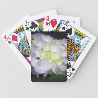 hydrangea bicycle playing cards