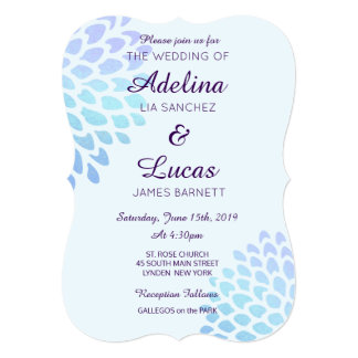 Hydrangea Blue Casual Wedding Invitations