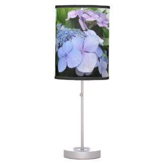 Hydrangea Blue Purple Pretty Flower Desk Lamp