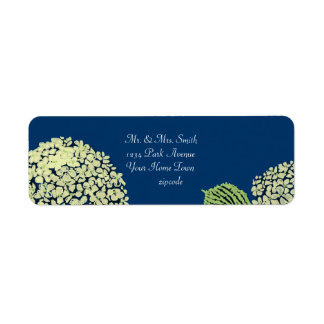 Hydrangea Blueberry Label Return Address Label