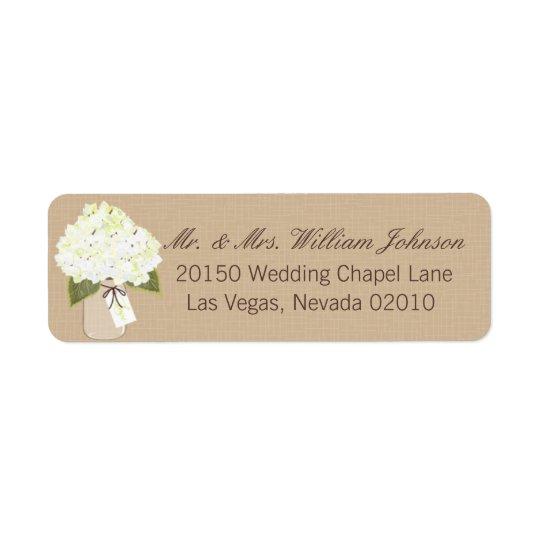 Hydrangea Bouquet Wedding Label