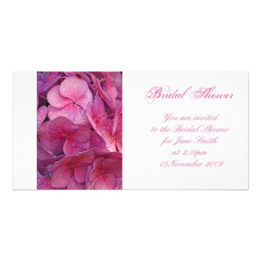 Hydrangea - Bridal Shower Invitation Photo Greeting Card