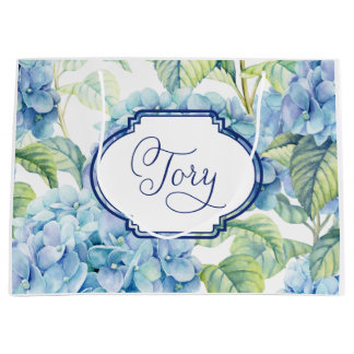 Hydrangea Bridesmaid gift bag for Tory
