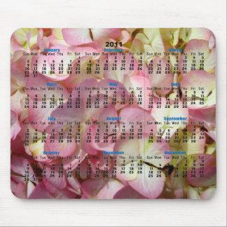 Hydrangea Calendar Mouse Pad
