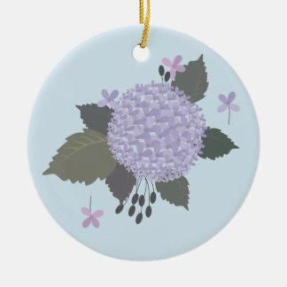 Hydrangea Ceramic Ornament