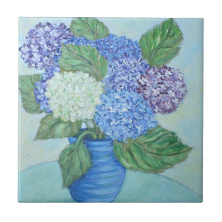 Hydrangea Ceramic Tile